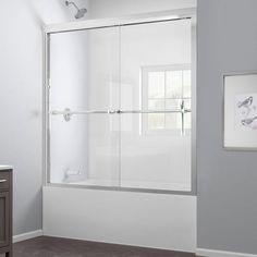 DreamLine Duet 59 in. x 58 in. Frameless Bypass Tub/Shower Door in Chrome-SHDR-1260588-01 at The Home Depot