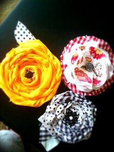 Flower Fabric pins