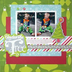 Holidazzle Under the Tree Cricut Scrapbooking Layout Idea