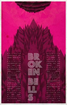 Another tour poster for Broken Bells.