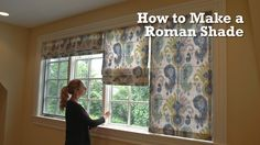 How to Make a Roman Shade  great video from Sailrite. A lot of steps but very thorough and easy to follow.