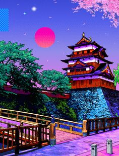 vaporwave x traditional Aesthetic Japan, Aesthetic Art, Aesthetic Anime, Cute Wallpapers, Wallpaper Backgrounds, Iphone Wallpaper, Japanese Wallpaper Iphone, Phone Wallpapers Tumblr, Rainbow Wallpaper