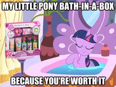#372923 - bath, bathtub, image macro, product placement, ryo bakura, safe, twilight sparkle, yami bakura, yugioh abridged - Derpibooru - My Little Pony: Friendship is Magic Imageboard