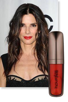 Beauty trend: Dark glossy lips, as seen on Sandra Bullock