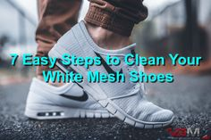 How to Clean White Mesh Shoes in 7 Easy Steps #cleanwhitemeshshoes