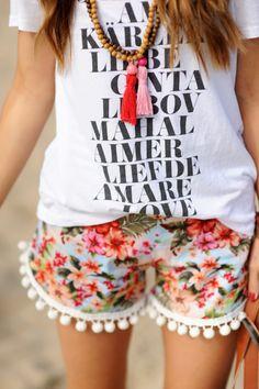 THECECILIALOVE #pompom #shorts #summer