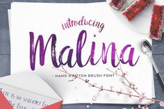 FREE (16 - 23 May 2016 only: Download now!)  Malina Brush Font by Ivan Rosenberg on @creativemarket. Hand written brush font.
