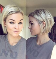 100 Mind-Blowing Short Hairstyles for Fine Hair Blonde Chin-Length Bob More – F Haircuts For Fine Hair, Short Hairstyles For Women, Hairstyles Haircuts, Pixie Haircuts, Medium Hairstyles, Latest Hairstyles, Natural Hairstyles, Chin Length Hairstyles, Bobs For Fine Hair