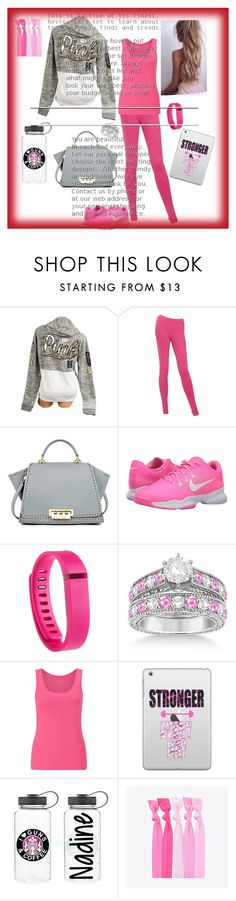 """""""Fitness work out 2016❗️😍"""" by divaqueens ❤ liked on Polyvore featuring Victoria's Secret, Chanel, ZAC Zac Posen, NIKE, Fitbit, Allurez, John Lewis, Casetify and Popband"""