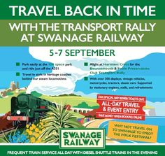 Travel back in time at the BPPC Transport Rally... 5-7 Sept.  Over 300 displays, vintage vehicles, motorcycles, tractors, classic cars. Supported by stationary engines, stalls, and refreshments. Why not travel onto Swanage to enjoy the Folk Festival?  Frequent train service all day with diesel shuttle trains in the evening.  http://www.swanagerailway.co.uk/events/detail/classic-transport-rally