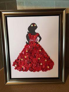 Disney Inspired Elena of Avalor Silhouette Button Art In Frame.  | eBay