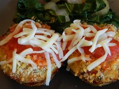 Lightened Up Chicken, Mozzarella & Marinara Mini Meatloaves