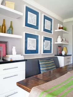 Paint Frame Mats in a Bold Color | Cape27Blog.com