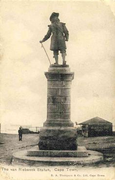 The statue of Jan van Riebeeck Old Pictures, Old Photos, South African Air Force, South Afrika, African States, Cape Town South Africa, Haunted History, Old Postcards, Historical Pictures