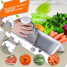 Do You Like Cooking, But Don't Want To Waste Time In Cutting Vegetables?Designed Specifically For Modern Kitchen – Vegetable Adjustable Mandoline Slicer! This Mandoline slicer is such a fast and convenient shredder which sets a variety of w. Kitchenaid Mixer Accessories, Baby Food Mill, Potato Slicer, Potato Cutter, Vegetable Design, Mandolin Slicer, Vegetable Slicer, Cheese Grater, Kitchen Tools