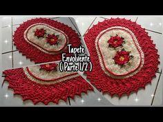 TAPETE ENVOLVENTE ❤️ / Parte 1/2 - YouTube Crochet Table Runner, Table Runners, Christmas Sweaters, Crochet Earrings, Crochet Hats, Youtube, Bathroom, Tops, Crochet Rug Patterns