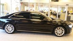 This is a freshly tinted Audi A 8 with Llumar ceramic window film.