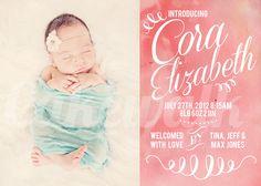 Cakewalk Photography birth announcement