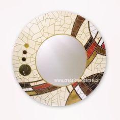 #espejo a pedido #mosaico #hechoenchile #design #diseñopropio #handmade #elplacerdecrear #mosaic #tonostierra Mirror Mosaic, Mirror Art, Mosaic Art, Pebble Mosaic, Mosaic Glass, Stained Glass, Mosaic Crafts, Mosaic Projects, Aluminum Foil Art