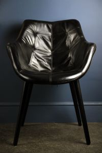 Black Leather Super Cool Chair
