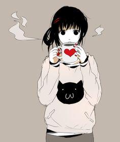 Anime I love coffee too <3