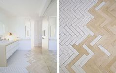 white herringbone tile uk - Google Search