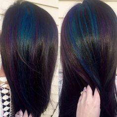Oil slick hair on Kathy. Couldn't get this on film last night in my shop, so I…