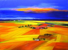 Overburg Over View by DERRIC VAN RENSBURG  Acrylic on Canvas 120x90cm