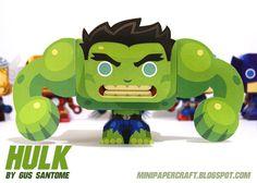 Mini Papercraft: Hulk Mini Papercraft