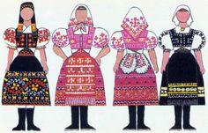 slovak-folk-costumes: Folk clothing around Slovakia, from the book Naše kroje by Viera Nosáľová and Jarmila Paličková. Folk Costume, Costumes, Russian Architecture, Folk Clothing, Culture, Vaseline, Regional, Clothes, Education