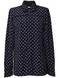 Butonned Up::: Blusas abotonadas hasta el Cuello - Blusa con estampado de pájaros en Styleto.co