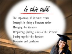 literature review write thesis