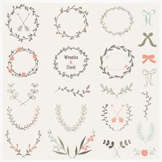 Hand drawn laurels and wreaths - perfect for so many projects.