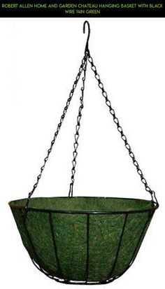 Robert Allen Home and Garden Chateau Hanging Basket with Black Wire 14in Green #fpv #gadgets #parts #racing #drone #technology #tech #camera #gardening #wire #shopping #plans #products #kit