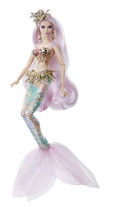 Barbie Mermaid Enchantress doll, the second doll to debut in the Mythical Muse fantasy series, features a sea-inspired look with enchanted details. Fish-scale sequins in soft coral and sea-foam hues Beautiful Barbie Dolls, Vintage Barbie Dolls, Mattel Barbie, Barbies Dolls, Bad Barbie, Poupées Barbie Collector, Mermaid Barbie, Barbie Fashionista Dolls, Doll Hair