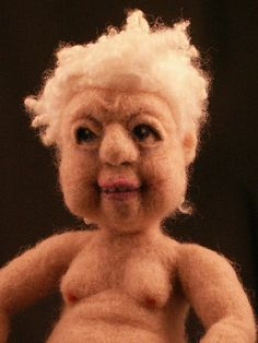 Vern's Old Woman - Needle Felted Art Doll by feltalive, via Flickr