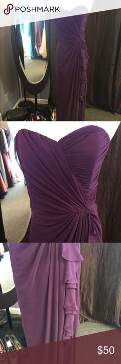 Purple Formal Dress Strapless, great for Prom or a wedding Dessy Collection Dresses Prom