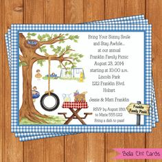 Park Invitation Family Reunion Printable by BellaChiCards