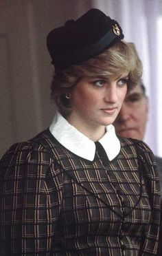 Diana sported a plaid shirtdress and a black pinned side cap while watching the Braemar Highlands Games on September 4, 1982 in Aberdeenshire, not far from the Balmoral estate where the royals spend their summer holiday.