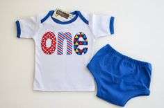Baby Boy Nautical Birthday Outfit In Stock One Shirt by Aidille, $30.00