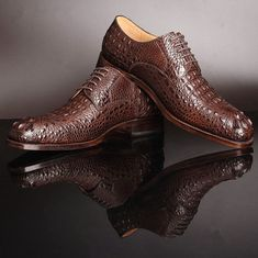 low priced 69501 d2ce4 Genuine Crocodile Leather Shoes
