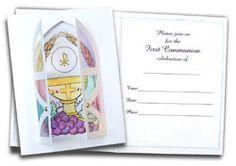 First Communion Card Kit - Invitations