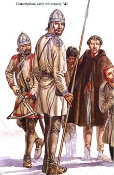 Difficulty in recruitment became a major factor in the declining quality of the Roman military. As the Empire and citizenship grew, military service was no longer viewed as a duty, but something to be avoided. This led the Romans to recruit increasingly among the barbarian tribes and foederate mercenaries .
