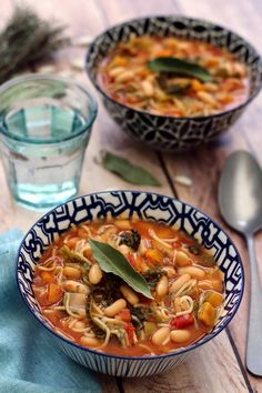 minestrone aux haricots blancs