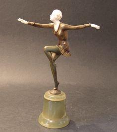 Josef Lorenzl Bronze & Ivory Figure