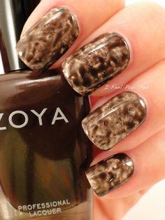 #PlasticWrap #nailart using Zoya Nail Polish in Jacqueline & Zoya Angelina!