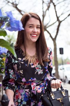 Floral Romper + 20% discount code to shop at Bauble Bar!