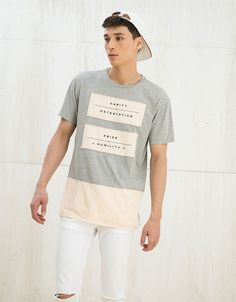 Discover the lastest trends in T-Shirts with Bershka. Log in now and find 128 T-Shirts and new products every week Mens Tee Shirts, Polo T Shirts, Boys Shirts, T Shirts For Women, Design T Shirt, Shirt Designs, Fashion Magazin, Tee Shirt Homme, Latest T Shirt
