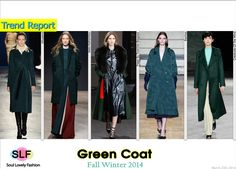 Green Coat  #Fashion Trend for Fall Winter 2014 #FW2014 #Fall2014Trends