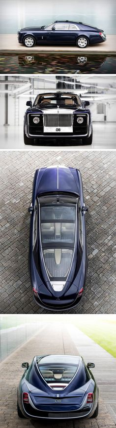 This stunner of a car isn't for sale. The Rolls Royce Sweptail isn't a concept, but rather, it's tailor-made for one RR patron who wanted a luxury car that was comparable to that of a yacht. Designed with Rolls Royce's signature styling on the front, you'll notice a rather large overhang on the back, and a styling that almost resembles the hull of a racing yacht.  romenyc.com - Clothing Store
